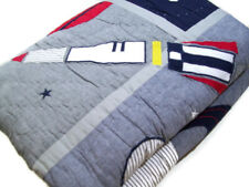 Pottery Barn Kids Multi Colors Colton Astronaut Space Rocket Space Twin Quilt