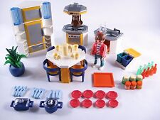 PLAYMOBIL 3968 KITCHEN BLUE/ORANGE MODERN HOUSE-COLLECTOR-COMPLETE-EXCELLENT