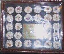 1-B Calgary 1988 Olympic Winter Games & Seoul Button 26 Pin Set US Team Mascots