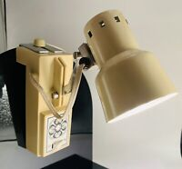 Vintage Retro Adjustable Hanging Arm Desk Lamp Cream Working MCM
