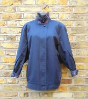 Burberry London Women's Blue Bomber Harrington Jacket Size UK 12 Nova Check