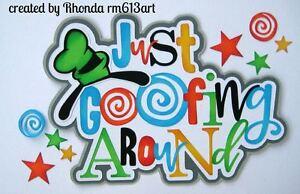 Disney Goofy vacation paper piecing title premade scrapbook page Rhonda rm613art