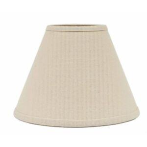 Lamp Shade 10 inch Osenburg Off White Primitive Decor Ring Clip Style