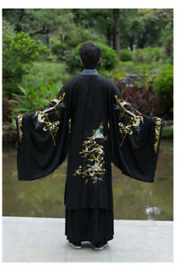 Unisex Hanfu Dress Male Chinese Style Chinese Embroidery Couple Retro Full Set