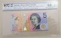 **2016 Last Prefix EJ16  Australian $5 note UNC **