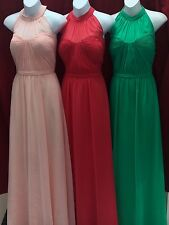 NEW Womens Cinderella Divine 1469 Sleeveless Halter Chiffon Party long Dress
