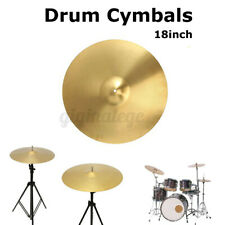More details for 18'' inch crash drum kit cymbal pack stand percussion drummer cymbals brass uk