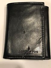 London Fog Black Tri-fold Wallet Leather