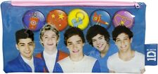 1D ONE DIRECTION STATIONERY: Pencil Case - Blue or Red/Black - Back to School