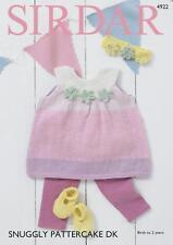 Sirdar 4922 Knitting Pattern Baby Dress Shoes Headband in Snuggly Pattercake DK