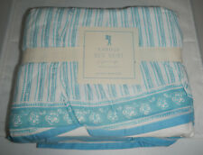 """Nwt Pottery Barn Kids Pbk Karina Bed Skirt Queen Size 14"""" Drop Blue Color"""