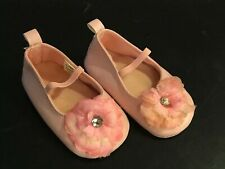 Baby's Pre-Owned Pink Soft Sole Crib Shoes Size 6-9 Months