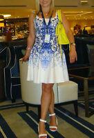 AUTHENTIC KAREN MILLEN DRESS SIZE 12 TILE PRINT DRESS SOLD OUT HIGH DEMAND