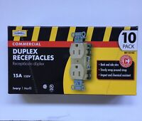 Hubbell BR15I10Z Commercial Receptacles 15A, 120V, IVORY 10 pk (K2)