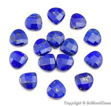 WE SELL QUALITY! 13mm NATURAL ROYAL BLUE LAPIS BRIOLETTE-DRILLED (sold per each)