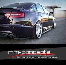 Cup Diffusor Seiten Ansätze für Audi A6 C6 4F S-Line FL S6 Heckansatz Side Flap