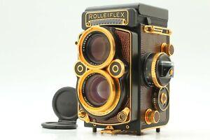"""ALMOST UNUSED"" Rolleiflex 2.8F Aurum Gold TLR Camera Xenotar 80mm F/2.8 JAPAN"
