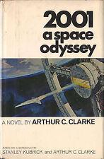 2001 A SPACE ODYSSEY-1968-ARTHUR C. CLARKE-W/DJ-1st/1st w/RED NAL $4.95 DJ!!
