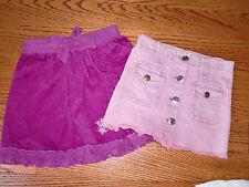 Girls Lot of 2 LIPSTIK Pink Denim Skirt & DISNEY Princess Skirt Size 4T