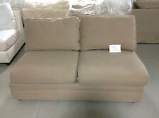 Pottery Barn Pearce Couch Sofa Sectional Walnut Canvas Armless Loveseat