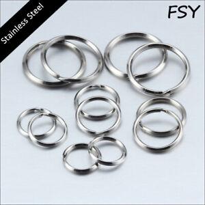 Wholesale Stainless steel beveled edge key ring