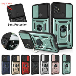 For Motorola Moto G9 PLAY G60 G30/G20 Case Ring Stand Shockproof Lens Protection