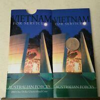 2003 VIETNAM FOR SERVICE AUSTRALIAN FORCES  $1UNC R.A.M FOLDER    BRAND NEW