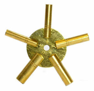 5-IN-1 Odd Number Brass  Wall Clock Winding Key: 3,5,7,9,11 Clock Keys Universal