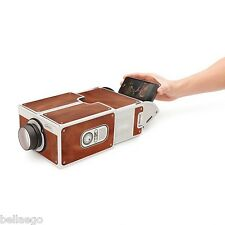 Portable Family / Couple Theater Film Cardboard Phone Projector Holiday Fun Toy