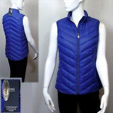M&S DOWN & FEATHER Quilted Stormwear GILET with HOOD ~ Size 10 ~ ULTRAVIOLET