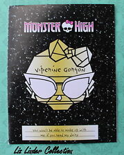 MONSTER HIGH ~ Viperine Gorgon Frights Camera Action  JOURNAL / DIARY