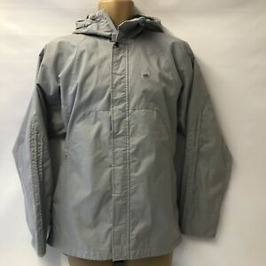 Adidas Men's Grey Winter Insulated Hooded Jacket Rain Coat Windproof UK 36-38