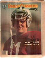 Dallas Cowboys Weekly Newspaper Sep 12, 1987 Quarterback Danny White G