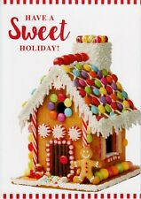 Christmas Gingerbread House with Ginger Man Holiday Greeting Cards