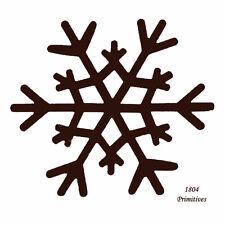 "6 ~ Primitive Rusty Tin Look 3-3/8"" Snowflakes"