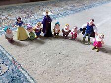 Mattel Snow White Seven Dwarfs Queen Prince Charming Figures PVC Toy  1993