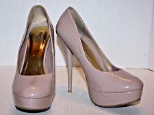 "Charlotte Russe Nude Faux Patent Platform 5.5"" Stiletto Women's Heels Ships FREE"
