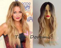 Halloween Wig Costume Woman Long Brown Mix Cosplay Heat Resistant Hair 75cm