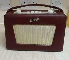 ROBERTS REVIVAL R250 VINTAGE RETRO PORTABLE RADIO BURGUNDY AM/FM LW MW 3 W/BAND