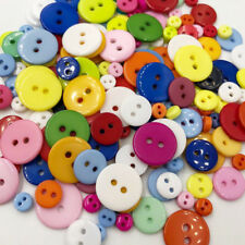 50Pcs 2 Holes Mixed Size Resin Buttons For Craft Round Sewing Scrapbook PT183