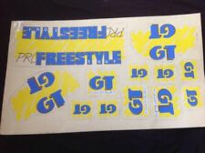GT Pro Freestyle Tour 1987-88  Sticker set bmx old school decals