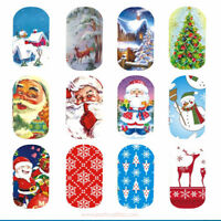 LUXURY FULL NAIL & Tips Christmas Xmas Designs Art Transfer Tattoo Sticker Decal