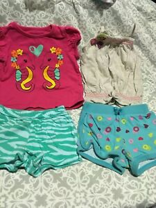 Baby Clothes Lot 274- Sea Horse Tee and Tank + 2 shorts -18M