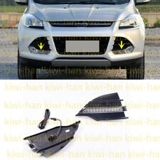 2 Pieces LED Front Bumper Fog Lights(DRL)White For Ford Kuga / Escape 2013-2015s