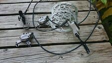 Shimano Deore hydraulic front and rear disc brake set with rotors
