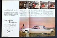1961 Ford Thunderbird Sales Brochure Hardtop Convertible Color Photos Vintage