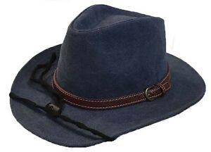 100% Cotton Canvas Cowboy Western Fedora Outback Ranger Bucket Hat Cap