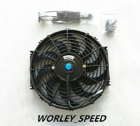 7Inch 12V Universal Bend Electric Radiator Cooling Thermal Fan + Mounting Kits