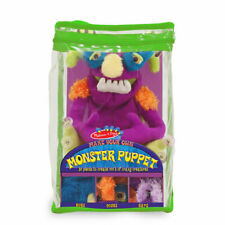 Melissa & Doug Make Your Own Monster Alien Hand Puppet Set Kit 3897 Toy Suction