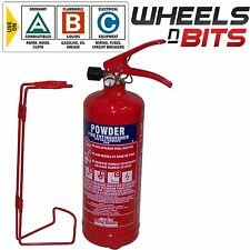 ABC DRY Powder 2KG Fire Extinguisher & Mounting Bracket CAR VAN TAXI MINI BUS